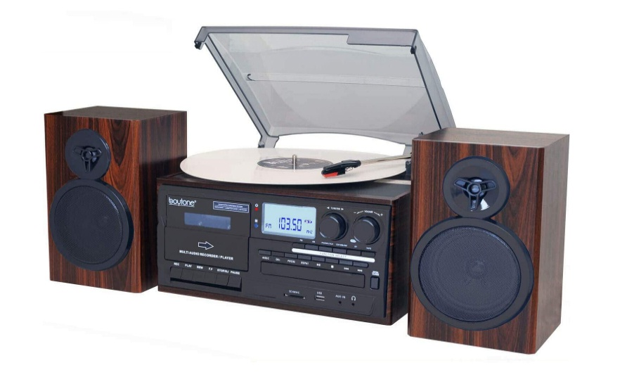 Boytone BT-28MB, Bluetooth Classic Style Record Player Turntable