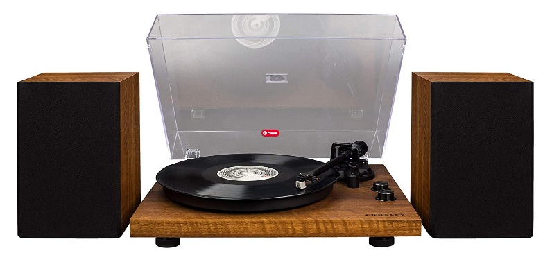 Crosley C62 Vinyl Turntable without Bluetooth Receiver, Includes Speakers & Built-in Amplifier - Walnut