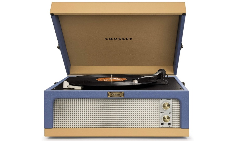 Crosley CR6234A-BT Dansette Junior Portable Turntable with Aux-In