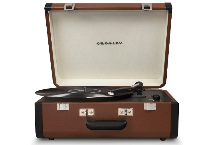 Crosley CR6252A-BR Portfolio Portable Turntable with Bluetooth