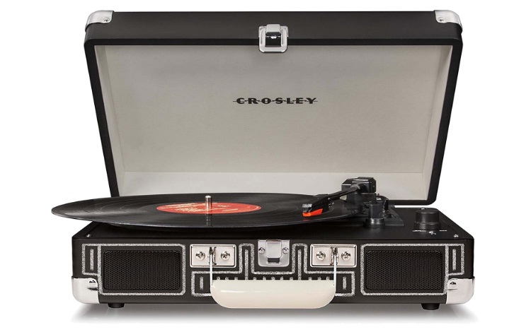 Crosley CR8005A-CB Cruiser Portable 3-Speed Turntable, Chalkboard