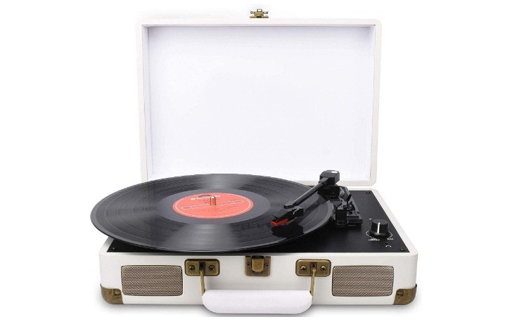 DIGITNOW! Turntable Record Player 3speeds with Built-in Stereo Speakers