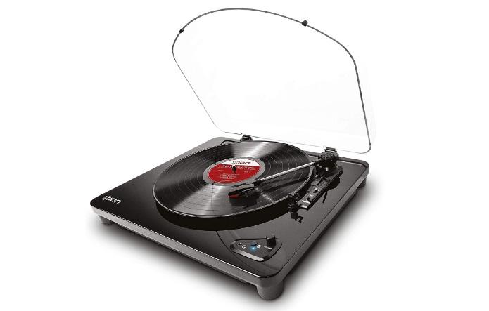ION Audio Air LP Vinyl Record Player Bluetooth Turntable with USB Output for Conversion and Three Playback Speeds