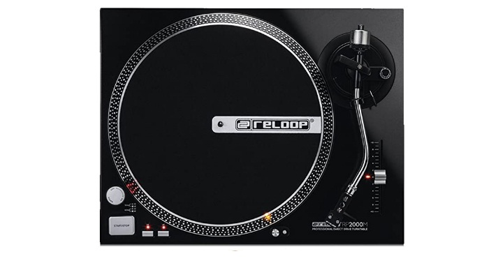 Reloop RP-2000-M DJ Turntable with Quartz Driven Direct Drive