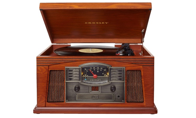 Crosley CR42D-PA Lancaster 3-Speed Turntable with Radio