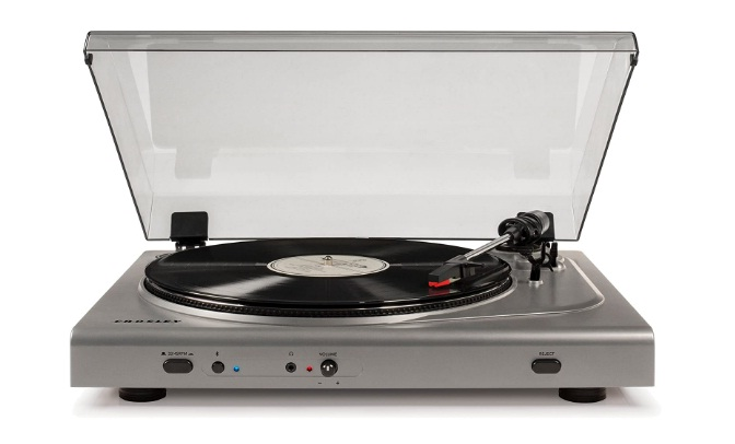Crosley T300A-SI 2-Speed Component Bluetooth Turntable - Silver